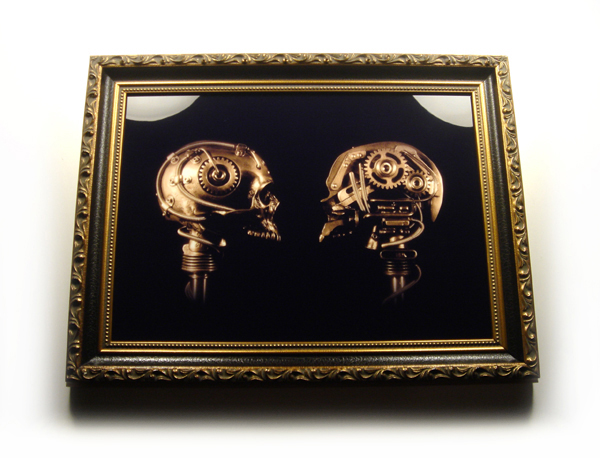 Limited Edition Infused Metal Plate Framed Print titled Cog-Nition by Christopher Conte