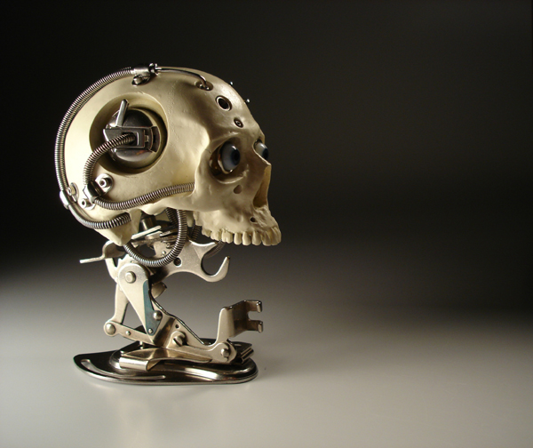 ROBOTIC CYBORG BIOMECHANICAL SKULL BY ARTIST CHRISTOPHER CONTE