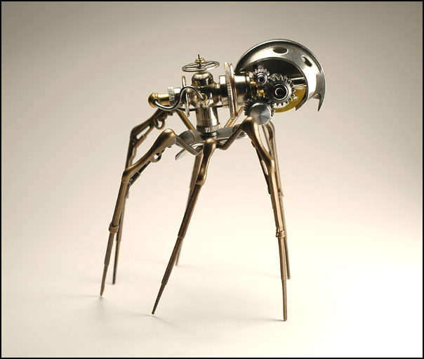 STEAMPUNK SPIDER TITLED STEAM INSECT BY ARTIST CHRISTOPHER CONTE
